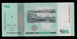 CONGO DEMOCRATIC   500 FRANCS 2010   PICK # 100  UNC.