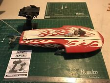 Vintage Fiberglass Hydroplane Custom Build R/C Boat Sea King Dynam Associated
