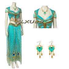Popular Princess Jasmine Cosplay Costume Women Halloween necklace with earrings