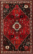 Vintage Nomadic Lori Geometric Oriental Area Rug Hand-Knotted Tribal Carpet 5x8