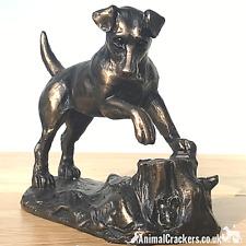 More details for bronze effect jack russell terrier ornament harriet glen figurine dog lover gift