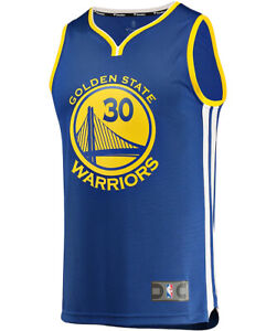 Stephen Curry Golden State Warriors NBA Jersey Sz Large Fanatics Fast Break NWT