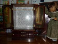 """AMERICAN GIRL DOLL SIZE FURNITURE - 17""""  TALL WOODEN CLOSET ARMOIRE DRAWERS"""