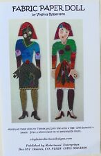 "Virginia Robertson Fabric Paper Dolls Jointed 31"" Dolls Sewing Pattern"