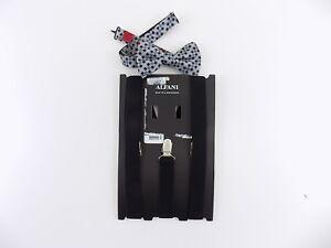 Alfani $75 MEN Black Suspenders ADJUSTABLE One Size WIDTH 25mm + BOW TIE SET L08
