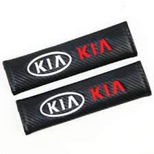2XCarbon Fiber Leather Car Seat belt Cover Shoulder Pad Truck Cover for KIA