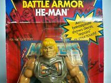 K1916733 BATTLE ARMOR HE-MAN MOC MINT ON SEALED CARD 1983 MOTU ORIGINAL VINTAGE