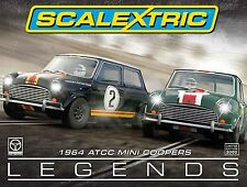Scalextric Touring Car Legends 1964 Mini Coopers - 1/32 Scale Slot Car - C3586A