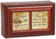 Cottage Garden Happy 40Th Anniversary Woodgrain Petite Music Box / Jewelry Box