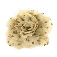 Decorative Fabric Flower Brooch Pin Brown