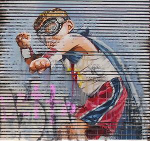 MASSIVE Graffiti Street Art  Print Large Canvas Painting andy baker not framed