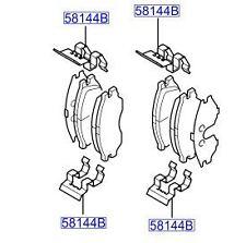 Hyundai Elantra Matrix Front Brake Pad Kit - S581012DA40