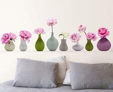 Wandtattoo Blumenvasen Pfingstrose Homesticker Aufkleber Sticker Blumen Pflanzen