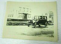 Antique Chevrolet Automobile 1920s VTG Photo Print Drive Through Town mb103