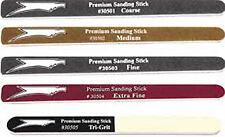 5 Sanding Sticks Pack: Coarse Medium Fine Extra-Fine Tri-Grit (Squadron 30506)