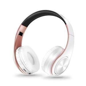 Bluetooth Headset Wireless Headphone Stereo Foldable Sport Microphone MP3 Player