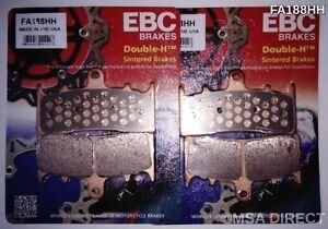 EBC Sintered FRONT Disc Brake Pads (FA188HH) fits Suzuki GSXR1000 (2001 to 2002)