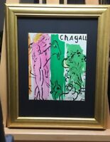 Marc Chagall Pencil Signed By Hand Lithograph