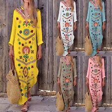 Vestito Lungo Donna Caftano Copricostume Woman Maxi Dress Kaftan Cover up 110429