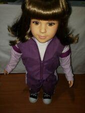 "My Twinn 23"" posable doll 1996 brown hair bangs Body 2001 Freckles"