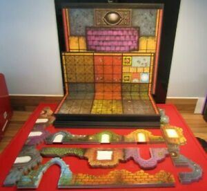 Dark World Board Game Spares 16 Game Boards 8 of Each Side & 55 Wall Sections