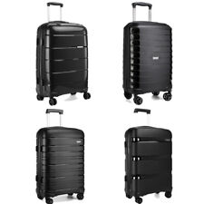 KONO Black 20 Inch Trolley Travel Case Hand Cabin Luggage Hard Shell PP Suitcase