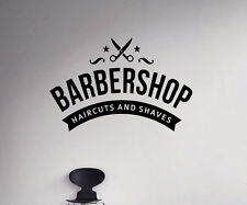 Barbershop Emblem Wall Vinyl Decal Hair Salon Vinyl Sticker Window Stickers (23)