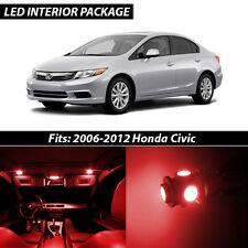 2006-2012 Honda Civic Red Interior LED Lights Package Kit