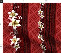 Tropical Hawaiian Tiki Spoonflower Fabric by the Yard