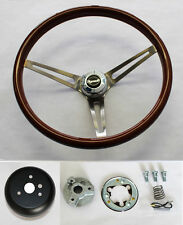 68 69 Road Runner Barracuda Cuda Fury Wood Steering Wheel High Gloss Grip 15""