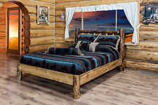 Amish Platform Beds Log KING Size Bed Beautiful Rustic Cabin Furniture