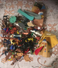 Job Lot Of Vintage Plastic Cowboys And Indians