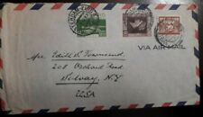 J) 1942 NETHERLAND, 50 CENTS BROWN, BOAT, MULTIPLE STAMPS, AIRMAIL, CIRCULATED C