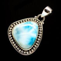 "Larimar 925 Sterling Silver Pendant 1 1/2"" Ana Co Jewelry P705744F"