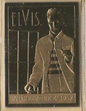 Elvis Presley 22Kt Sculpted Karat Gold Card Danbury Mint Jail House Rock 1957