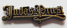 JUDAS PRIEST Logo Vintage 1980`s Shaped Plastic Pin Badge #JP117