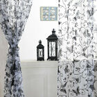 Floral Butterfly Tulle Voile Door Window Curtain Drape Panel Sheer Scarf Divider