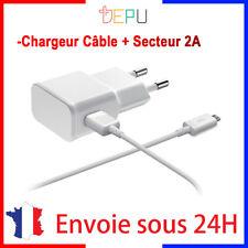 Chargeur Micro Usb Cable et Secteur Rapide 2A Pour SAMSUNG S5/6/7 edge Note A J