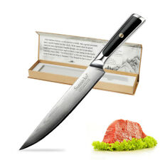 Japanese Chef's Knife 8 inch Slicer Cutter Damascus Steel Pro Kitchen Cook's