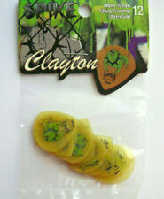 12 Clayton Spike Picks 0,72 MM Sharp Teardrop Guitar Pick Hang Bag