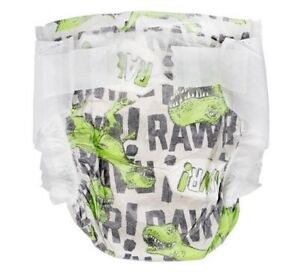 The Honest Company Size 2 Diapers- T-Rex Dinosaur Print- 40 Count- 12-18 Pounds