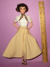 Barbie Audrey Hepburn Model Muse Roman Holiday Dressed Doll for OOAK or Play
