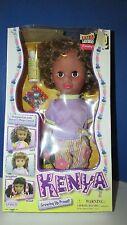 Kenya growing up proud light black African american hair styling doll Uneeda NIB