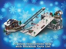 Instrucciones de pendiente de esquí de invierno lego pueblo sólo para ladrillos Lego (Navidad)