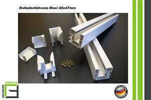 Rolladenführung Set Maxi 40x47mm 15€/m Führungsschiene Fenster Schüco Veka