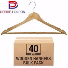 40 X Perchas de Madera traje prendas ropa colgador de madera conjunto de Barra del pantalón