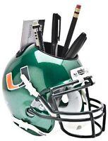 Miami Hurricanes (Green) NCAA Football Schutt Mini Helmet Desk Caddy