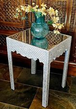 Moroccan / Syrian mother of pearl inlaid side table