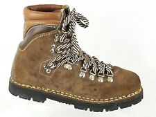 Vintage Thom McAn Vibram Brown Leather Men s Boots Size 8 Made In Italy  Hiking 80fbc081f40