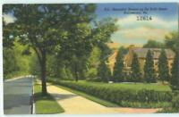 Norristown PA DeKalb St Beautiful Homes 1940s Linen Antique Postcard 25115